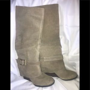 Vince Camuto Alician tall wedge boots.  Size 8.5B